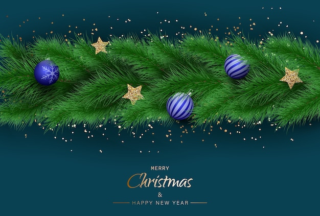 メリークリスマスと幸せな新年の挨拶背景