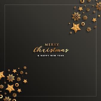 С Рождеством и Новым годом Поздравительная открытка