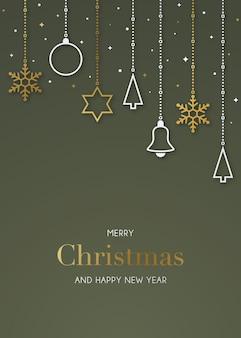 기쁜 성 탄과 새 해 복 많이 받으세요 인사말 카드