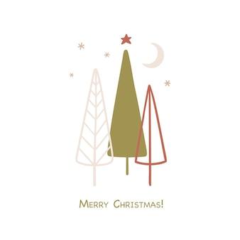 Веселого рождества и счастливого нового года рисованной карты