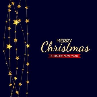 Веселого рождества и счастливого нового года праздник шаблон фона.