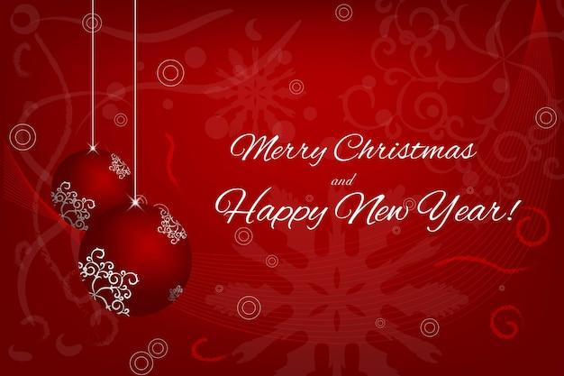 Веселого рождества и счастливого нового года пригласительный билет, баннер, элемент дизайна. векторная иллюстрация.
