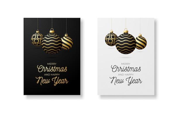 メリークリスマスと新年あけましておめでとうございますのレタリングテンプレート。