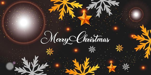 기쁜 성 탄과 새 해 복 많이 받으세요 현실적인 크리스마스 검은 배경