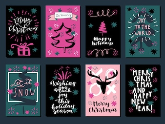 Поздравительные открытки с Рождеством и Новым годом