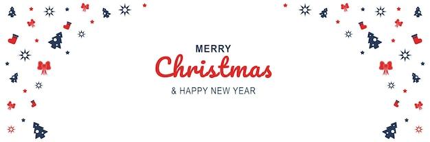 메리 크리스마스와 새 해 2022 포스터 크리스마스 나무 양말 활과 최소한의 배너 디자인