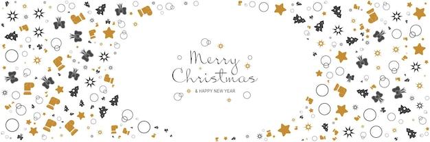 메리 크리스마스와 새 해 2022 포스터 크리스마스 나무 별 활과 최소한의 배너 디자인