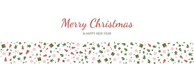 메리 크리스마스와 새 해 2022 포스터 크리스마스 휴일 기호 패턴으로 최소한의 배너