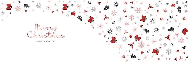 메리 크리스마스와 새 해 2022 포스터 크리스마스 나무 눈송이 별 최소한의 배너
