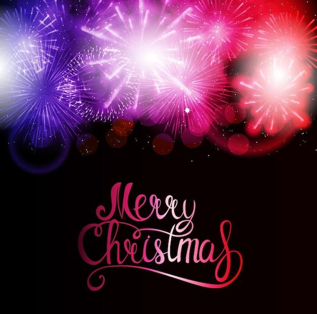 С рождеством и новым годом фон. векторная иллюстрация eps10