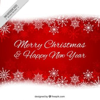 С рождеством и новым годом фон со снежинками