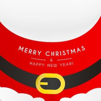 클로스와 함께 메리 크리스마스와 새 해 카드