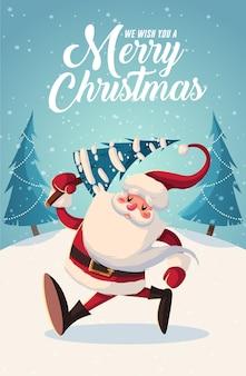 Веселого рождества и нового года поздравительных открыток ретро-дизайн. векторная иллюстрация