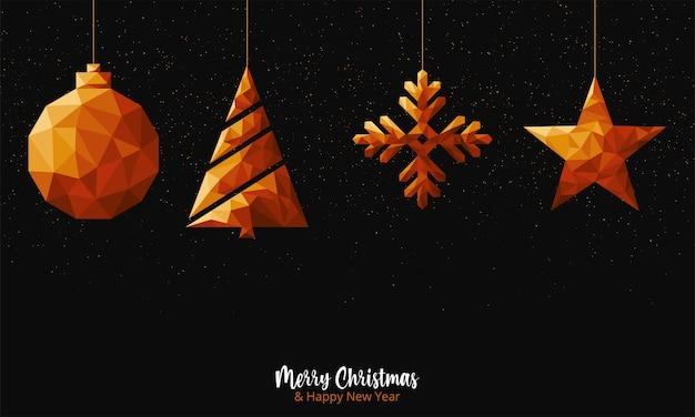 Роскошное поздравление с рождеством и новым годом