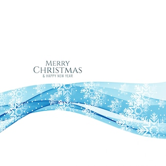 Merry christmas awesome decorative wave background