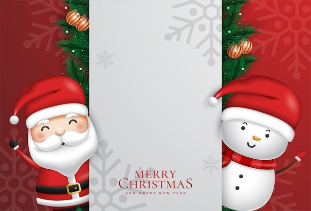 Merry christmas background concept