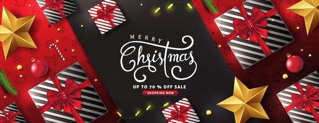 메리 크리스마스 배경 디자인