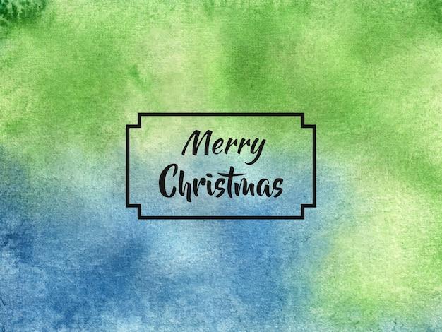 수채화 스타일의 메리 크리스마스 배경