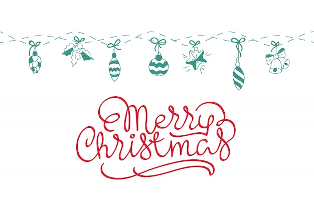 Merry christmas background. perfect decoration element for cards, invitations