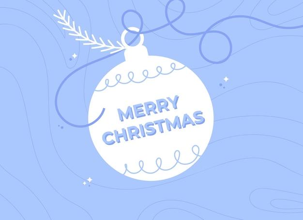 Merry christmas background with christmas ball