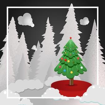 크리스마스 요소와 메리 크리스마스 배경 premium vector