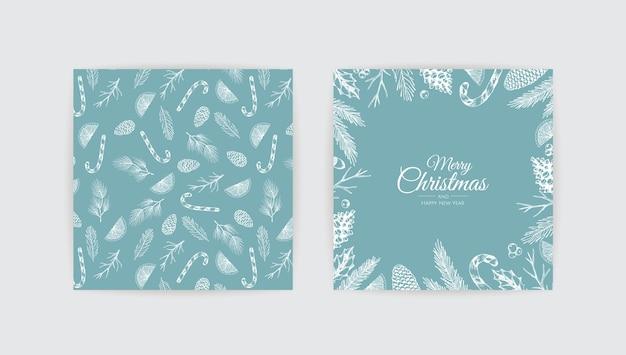 С рождеством христовым фон с рождественским элементом.