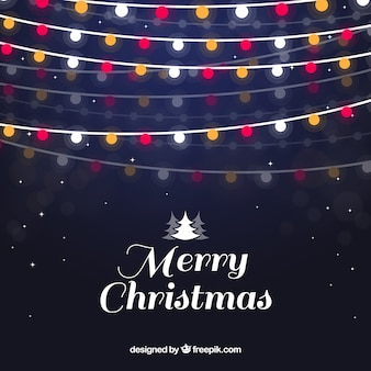 Merry christmas background with lights