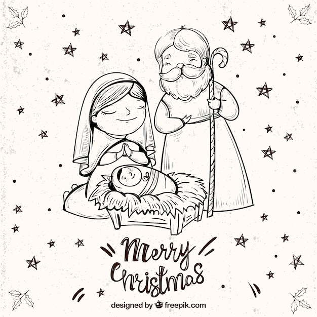 marry christmas images black and white jesus