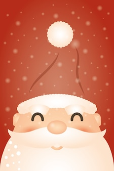 Merry christmas background with santa claus