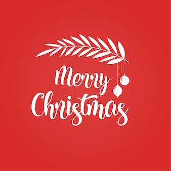 타이 포 그래피, 레터링 메리 크리스마스 배경입니다. 인사말 카드, 배너 및 포스터 템플릿