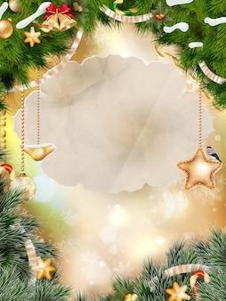 메리 크리스마스 배경입니다.