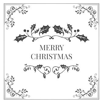 Merry christmas badge design vector