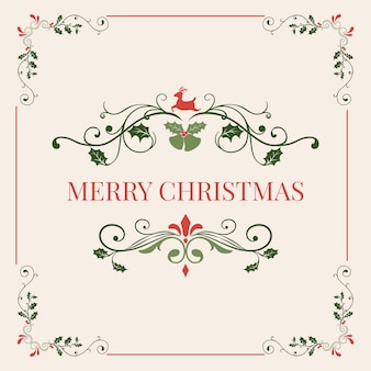 Merry christmas badge design vector