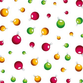 メリークリスマスボール装飾パターン