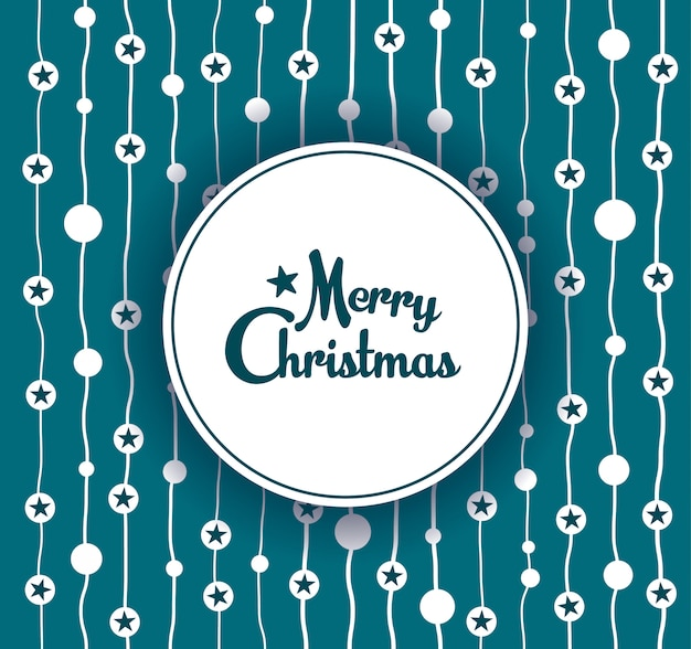 Merry christmas banner. decorative snowflake ornament background.