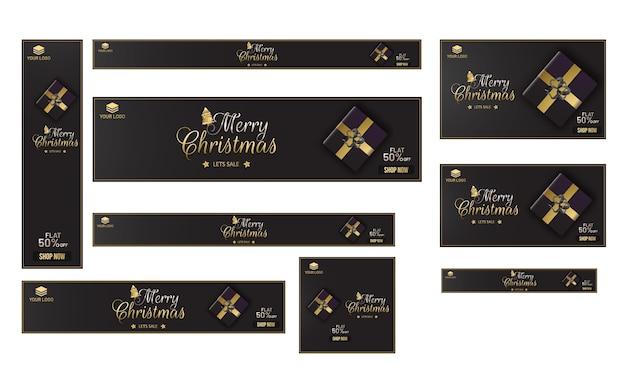 Merry christmas banner design.