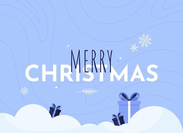 Merry christmas banner illustration