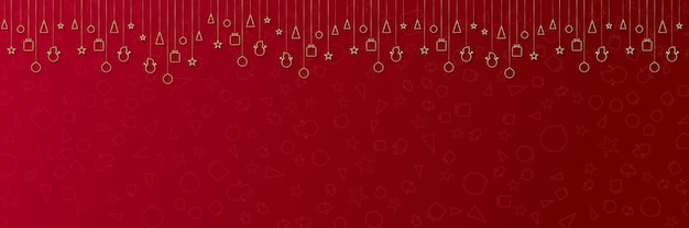 Merry christmas banner or party invitation background merry christmas vector with copy space for tex...