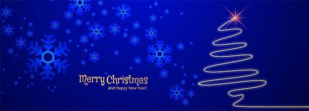 Счастливого рождества баннер шаблон с украшениями