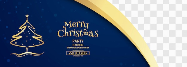 Merry christmas banner template with ornaments