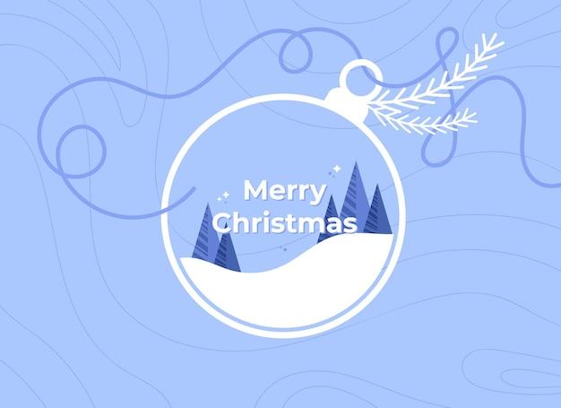 Merry christmas banner with christmas ball