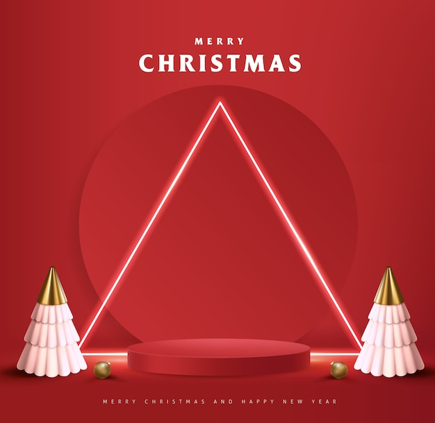 제품 디스플레이 원통형 모양의 메리 크리스마스 배너