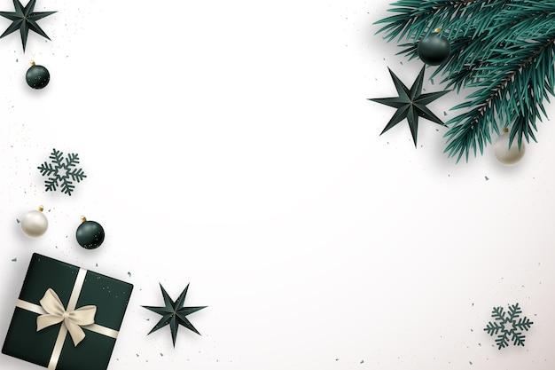 Счастливого рождества баннер с пространством для текста элегантность лежала композиция
