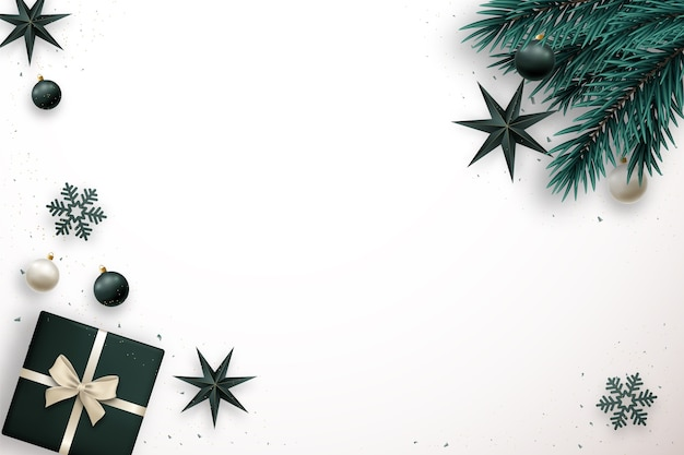 Merry christmas banner with space for text elegance  lay composition