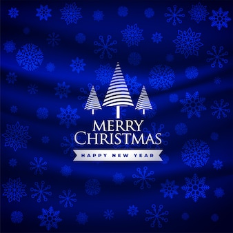 Merry christmas beautiful blue festival greeting