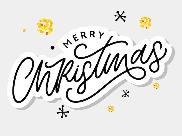 С рождеством христовым красивые открытки плакат с каллиграфией черный текст слова.