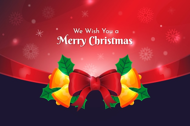 Merry christmas beautiful ribbon background