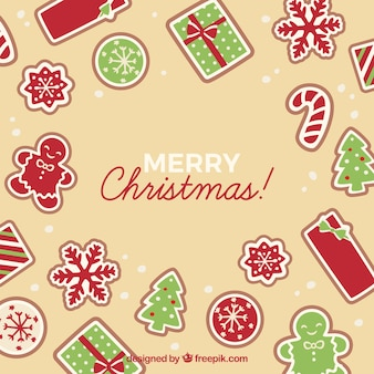Merry christmas beige background