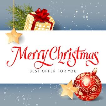 Merry Christmas Best Offer Lettering