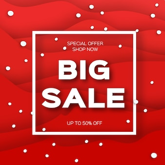 Merry christmas big sale for promotion. square frame.